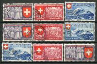 Suisse 1939 Mi. 335-343 Oblitéré 100% Exposition nationale à Zurich