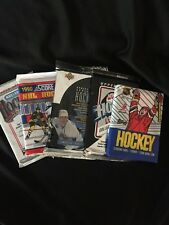 Lot of ICE HOCKEY CARDS UNOPENED PACKS FROM THE 1980'S 1990'S 5 PACKS
