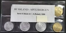 RUSSIA SPITZBERGEN SIX COIN SET 1998 UNC COINS VERY RARE SET NO RESERVE