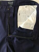 """NWT Polo Ralph Lauren 36  x 6"""" Navy 100% Cotton Pleated Short Casual Shorts"""