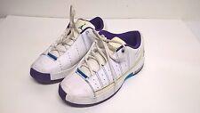 Team Jordan TE2 Basketball Shoes Youth Size 6.5 White Purple & Blue