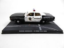 Dodge Monaco Police James Bond 007 A View to a Kill 1:43 Diecast Model Car DY055
