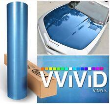 Vvivid 1ft x 5ft blue gloss carbon fiber tech art car wrap vinyl