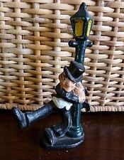 Vintage Cast Iron John Wright Drunk Leaning on Lamp Post/Bottle Opener Figurine