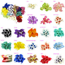 10pcs Real Latex Touch Calla Lily Flower Bouquets For Bridal Wedding DIY Bouquet