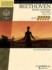 BEETHOVEN PIANO SONATAS VOL 1 Nos 1-15 5 x CDs Schirmer Performance Ed