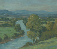 John Weston Gough (1929-2019) - Signed & Framed 20th Century Oil, Twisting River