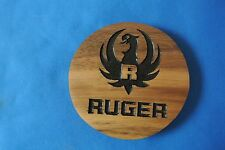 Ruger Magnet Walnut Wood sign Home Made American Made