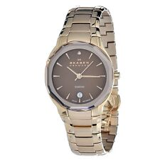 Skagen Women's 822SRXD Quartz Stainless Steel Brown Dial Watch USA SELLER