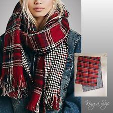 Winter Karo Schal / Plaid Winterschal Damen & Herren Wendeschal - Blanket Scarf