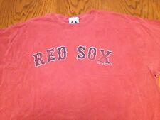 BOSTON RED SOX BASEBALL 2009 MAJESTIC BRAND PREWASHED DISTRESSED T-SHIRT-LARGE