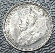 1918 CANADA 5 CENTS - SILVER - George V - Gorgeous Coin with Rainbow Toning