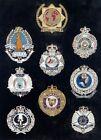.SCARCE WIRE & CLOTH AUSTRALIAN POLICE BADGE SET. VERY NICE !