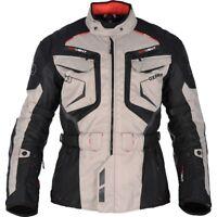 Oxford Ankara Long Waterproof Textile Motorcycle Jacket Grey Black Small