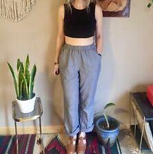 80s vintage Chic women's high waisted cotton slacks/pants elastic waist 26 gray