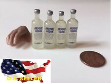 4 bottles 1/6 Absolut vodka wine Dollhouse Miniature Bar Drink Decor Hot Toy USA