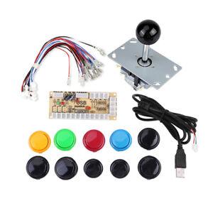 KIT Joystick Juego Arcade + 10luz botones + USB Controlador DIY Encoder Set