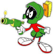 """Marvin the Martian Kids Cartoon Car Bumper Window Sticker Decal 4.5""""X4.5"""""""