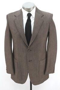 vintage mens brown CIRCLE S blazer jacket wool sport suit coat western 38 R