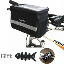 Bike Bicycle Cycling Outdoor Front Basket Pannier Tube Handlebar Bag Pouch +Gift