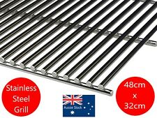 STAINLESS STEEL BBQ GRILL GRILLE PLATE 48  X 32 cm  SOLID 8mm BARS BARBECUE NEW