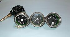 Willys MB Jeep Ford GPW Gauges Kit - Temperature+Oil Pressure+ Ampere CHROM