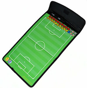Trainer falt Taktik-Tafel Fußball magnetisch Taktikboard soccer tactical-board