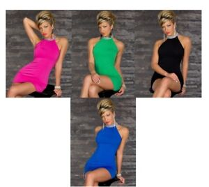 Fashion Ladies Mini Dress Party Sexy Clubbing One Night Party Summer Sleeveless