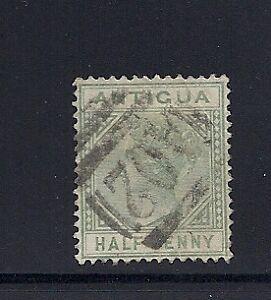 ANTIGUA 1882-86 QV 1/2d green (Scott 12) CROWN CA F/VF USED