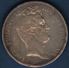 FRANCE - 5 FRANCS ARGENT - LOUIS PHILIPPE 1831 H tranche en creux