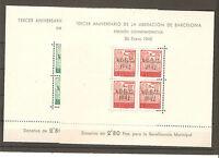 1945. AY DE BARCELONA HOJITAS  EDIFIL Nº 40/41 - NUEVAS**
