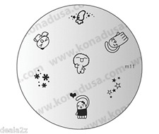 IMAGE PLATE M11 Konad Stamping Nail Art Design Nails