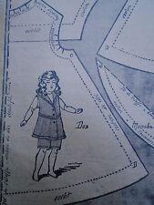 """PATRON ORIGINAL POUR LA POUPEE BLEUETTE """"COSTUME DE BAIN MAI  1919"""