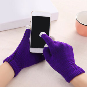 Winter Men Women Touch Screen Gloves Knit Warmer Finger Mittens Outdoor Gloves