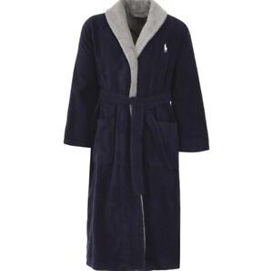 Polo Ralph Lauren Navy Mens Dressing Gown - Size S-M & Size XXL-XXXL - Brand New