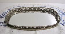 Vintage Oblong Vanity Mirror Tray, Perfume Tray, Vanity Tray, Mirrored Tray,