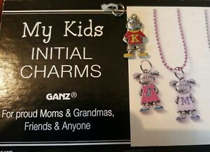 """Adorable GANZ My Kids Initial Tag Letter """"K"""" Charm ID Backpack Pull Boys Shape"""