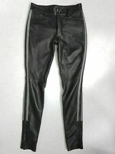 MEN'S LEATHER BREECHES GAY PANTS TROUSER MOTORBIKE POLICE UNIFORM PANT JEANS