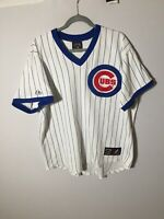 majestic MLB Chicago Cubs Cooperstown Collection Vintage Jersey Size XL Mens