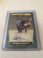 2013 Bowman Orlando Calixte 260/500 Autograph Blue Boarder #BPA-0C