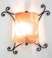 LANTERNA APPLIQUE COPPO IN FERRO BATTUTO LANTERNE APPLIQUE LAMPIONE LAMPADE