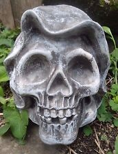 """Halloween skull poly plastic mold 9"""" x 8"""" x 6"""" thick free standing statue"""