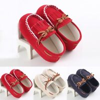 Toddler infant Cute Baby boy Girl Soft Sole Loafers prewalker Crib Shoes 0-18M