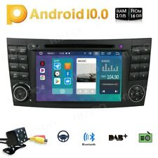 "7"" For Mercedes-Benz E-W211 W219 4Core Android 10 GPS Radio DVD Player WiFi +Cam"