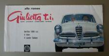 ALFA ROMEO GIULIETTA 1300 TI SALOON orig 1957 UK Mkt Sales Brochure - T.I