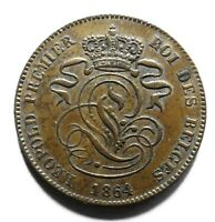 1864 Belgium Two 2 Centimes - Leopold I - Lot 895