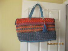 Multi color beach bag, purse, tote, suitcase, carry on bag. Pretty colors