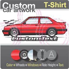 Custom T-shirt for 1985 86 87 88 89 90 91 92 VW Jetta MK2 Coupe VR6 8v 16v Fans