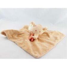 Doudou plat éléphant orange BENGY -  Plat / Semi plat