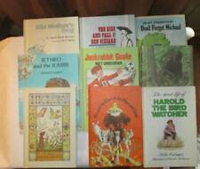 Weekly Reader vtg 70s lot of 9 hardcover book lot Bigfoot sports dog boy nature